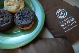baked goods for patients at dental office