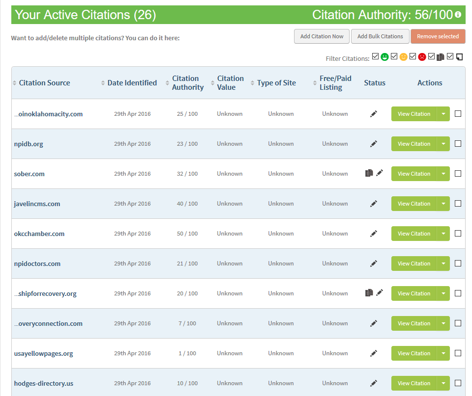 citation audit example