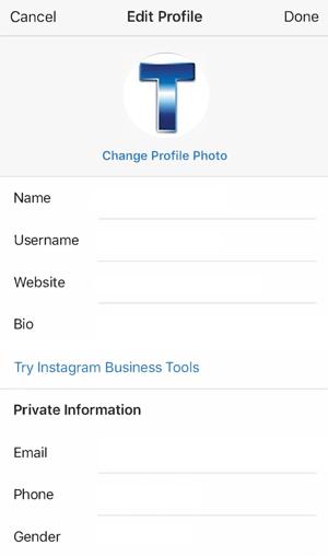 instagram business details