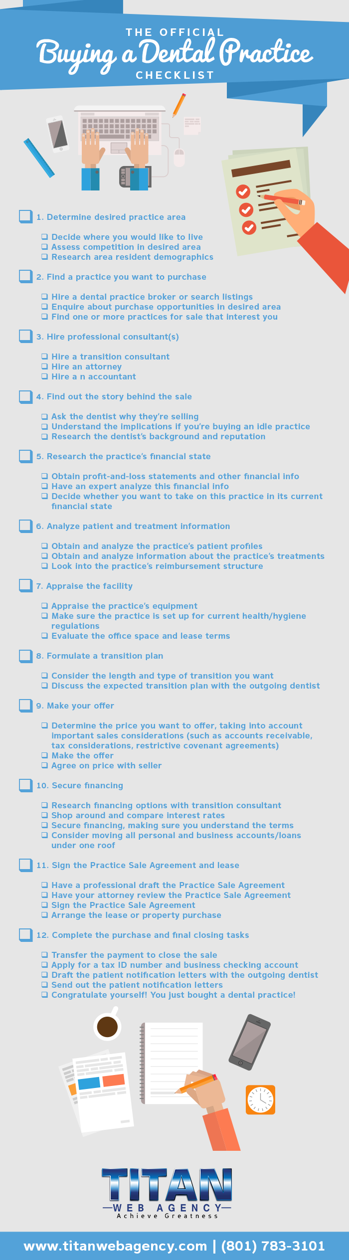 official buying a dental practice checklist