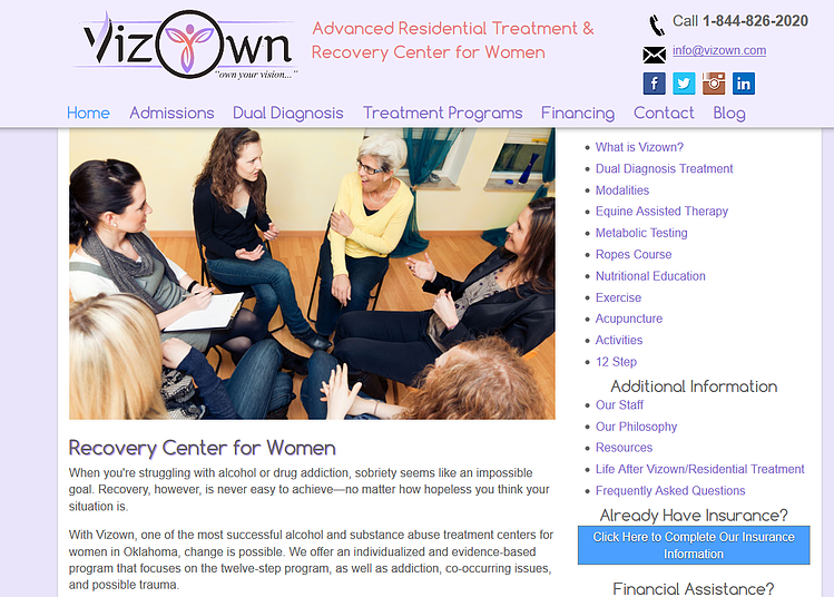 Vizown Oklahoma Rehab Center