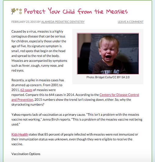 dental website blog