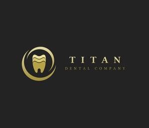dental office logo samples black and gold