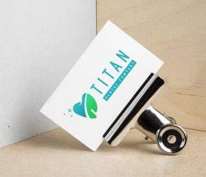 dental business card logo samples green