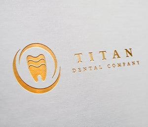 dental business card logo samples gold