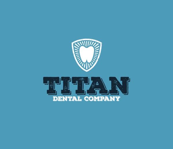 dental office logo samples blue background