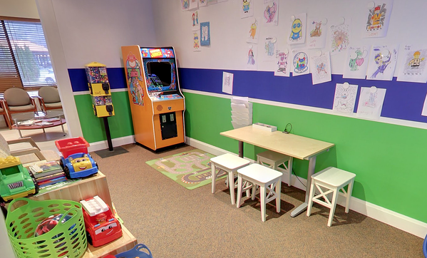 dental office playroom to keep children entertained