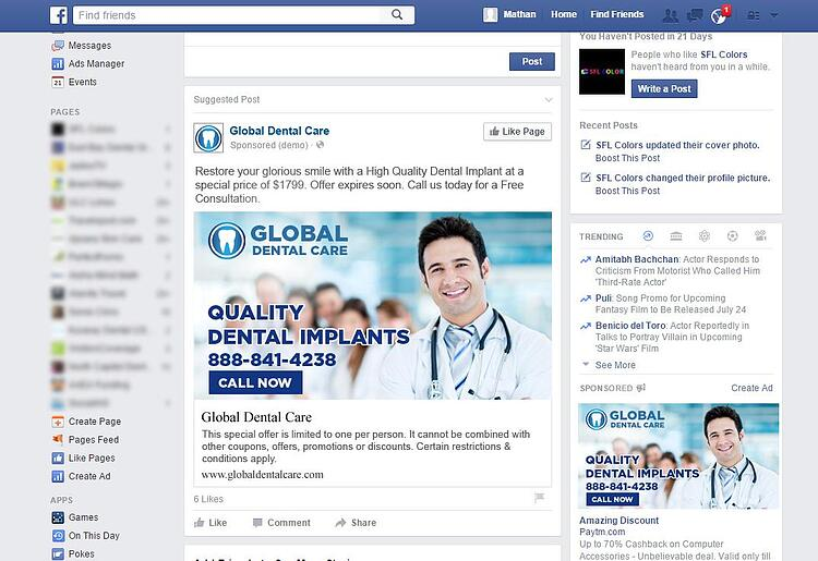 use facebook ad retargeting to capture new patients