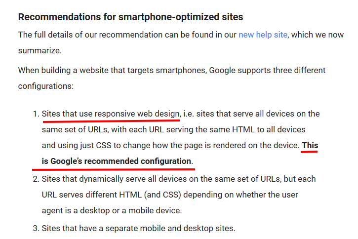 mobile optimization recommendation