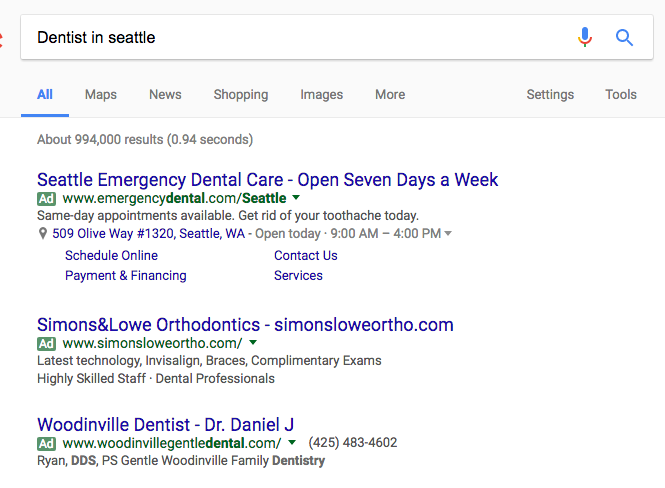 ppc advertising for dentists