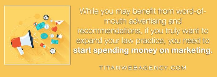 start spending money on marketing