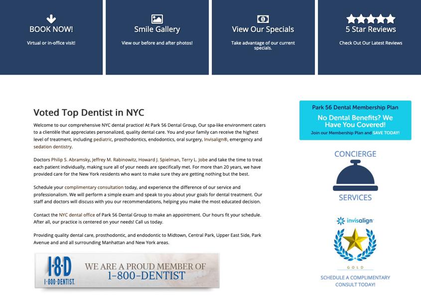 Good Dental Website Design