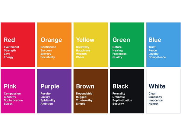 phsychology of colors